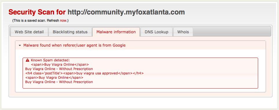 MyFox Atlanta Sucuri Scan