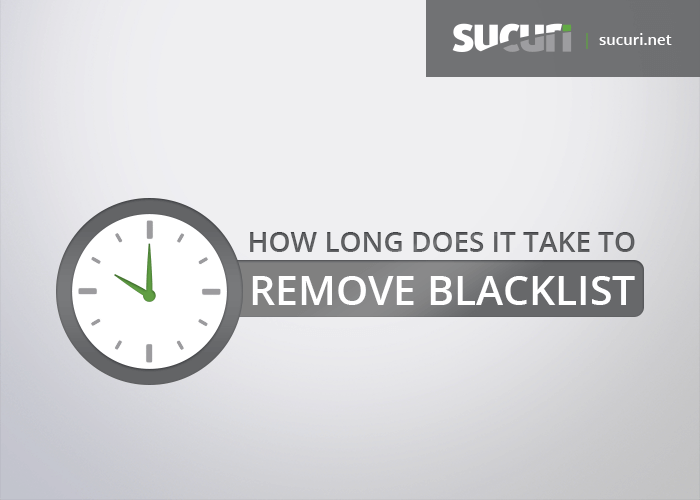 How long does it take to remove a website blacklist