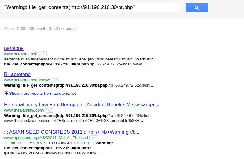 Google results (counter-wordpress)