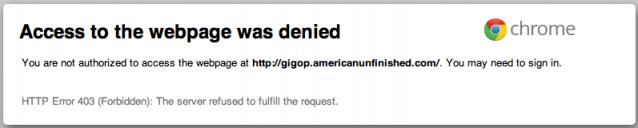 Blacklisted Website - 403 Error