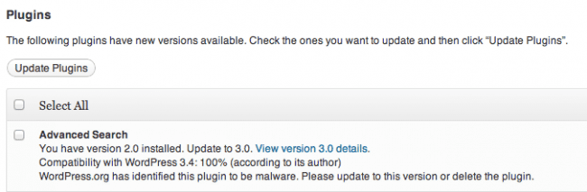 Plugin Update Available