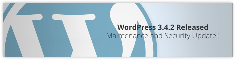 WordPress 3.4.2 Update