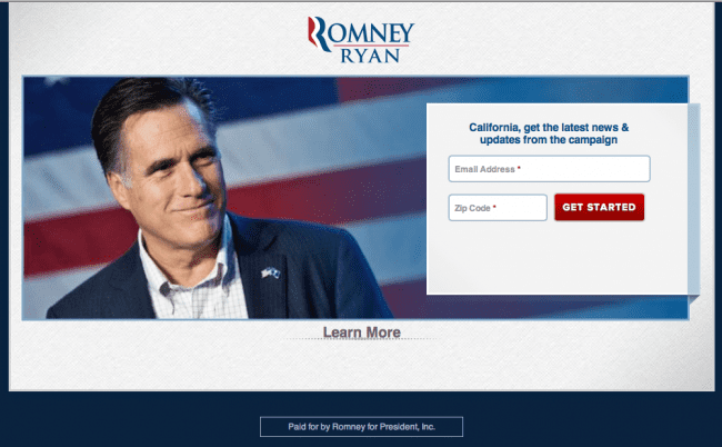 Romney Website