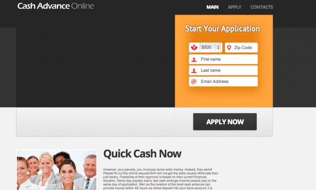 Cash spam