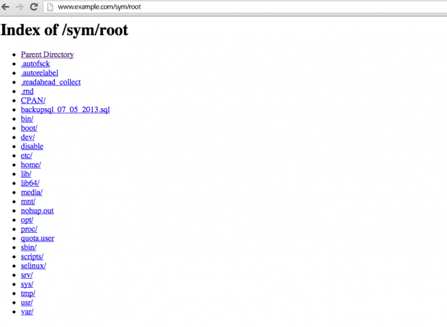 Symlink to root