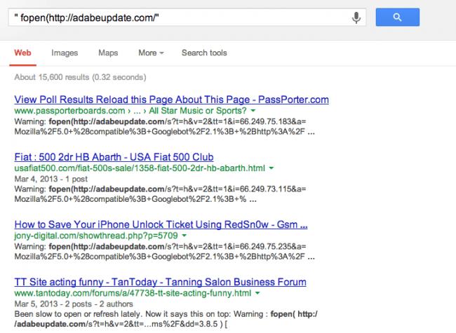 fopen Google Results