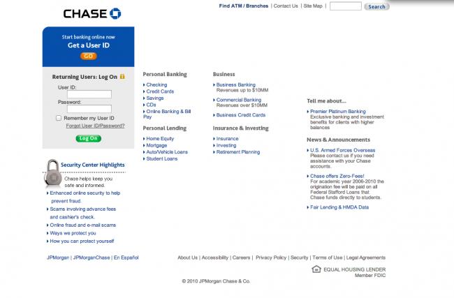 Chase Phishing