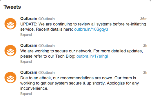 Sucuri Outbrain Hacked