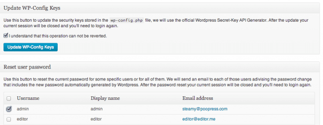 Sucuri WordPress Password Reset