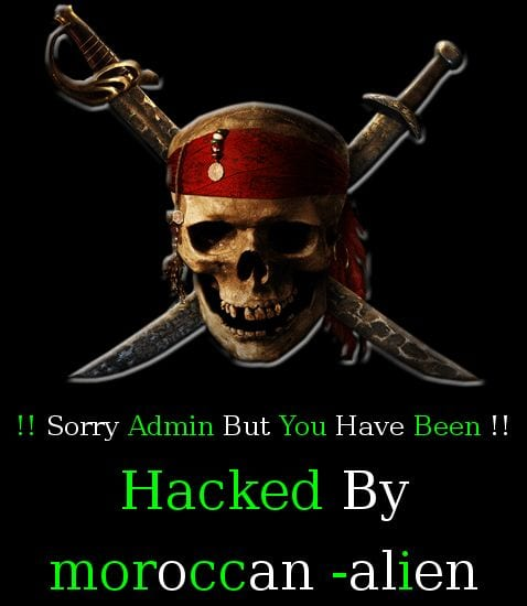 Hacked Website Defacement