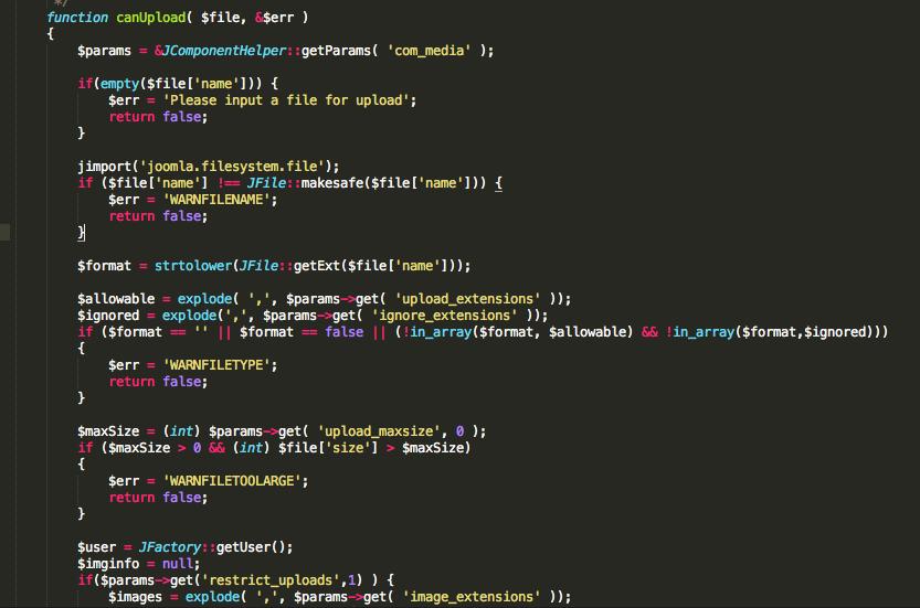 highly effective joomla backdoor with small profile