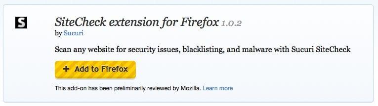 SiteCheck - FireFox Scanner