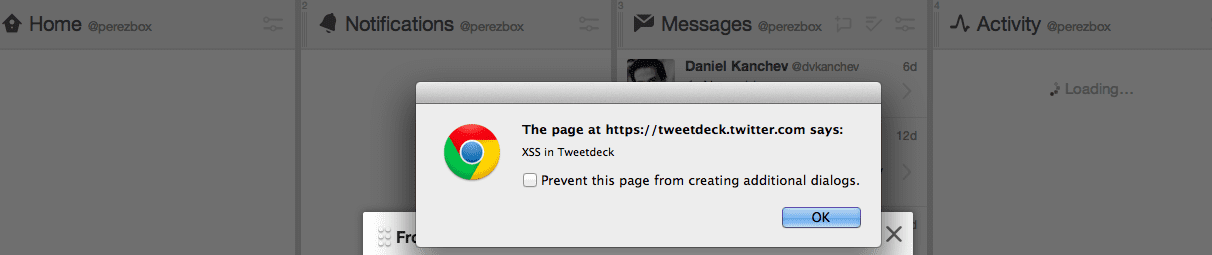 Serious Cross Site Scripting Vulnerability in TweetDeck - Twitter
