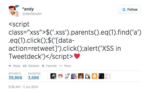 Serious Cross Site Scripting Vulnerability in TweetDeck - Twitter