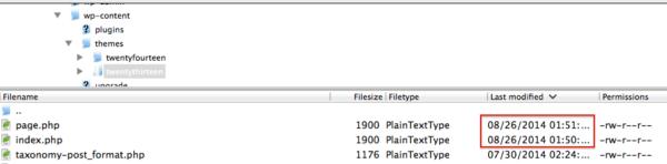 Sucuri - My Website Was Hacked - FileZilla Editing