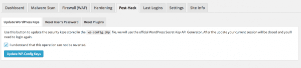 Sucuri - My Website Was Hacked - Post Hack Features
