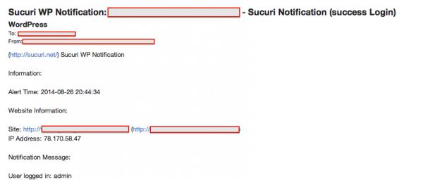 Sucuri - My Website was Hacked - WordPress Security Notification