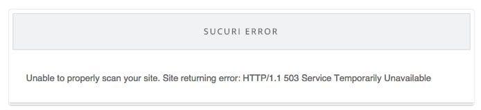 Sucuri - WordFence Scanner Block