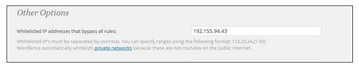 Sucuri - WordFence Whitelist IP Option