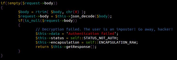 Akeeba JSON Payload found by Sucuri