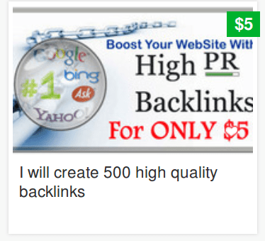 A penny per spammy backlink.