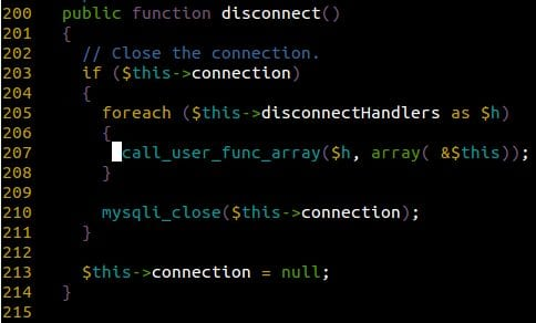 Disconnect function