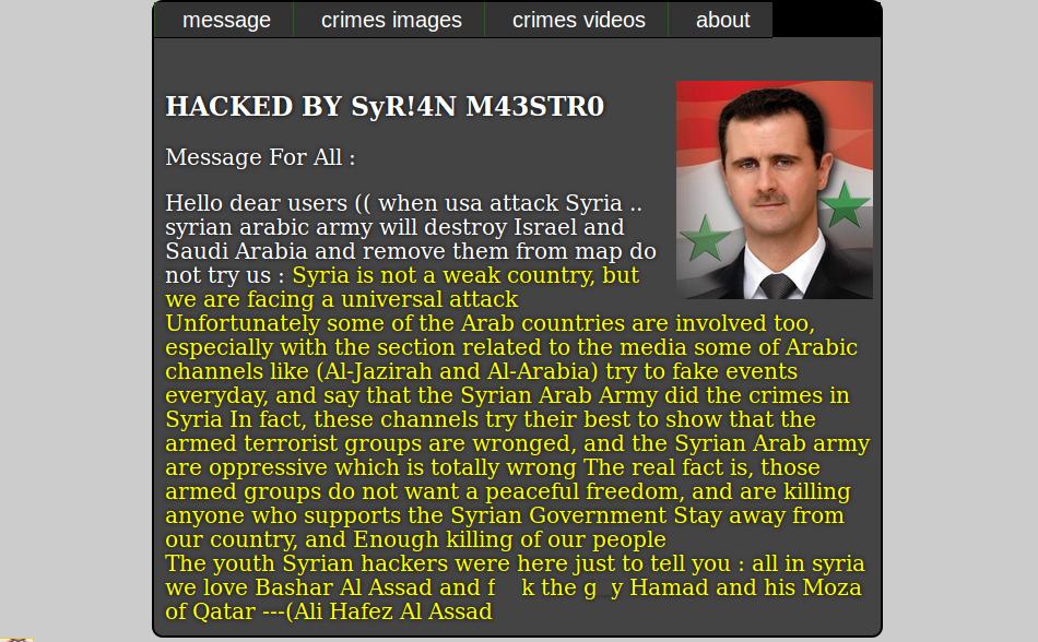 Defaced-Website-Syrian