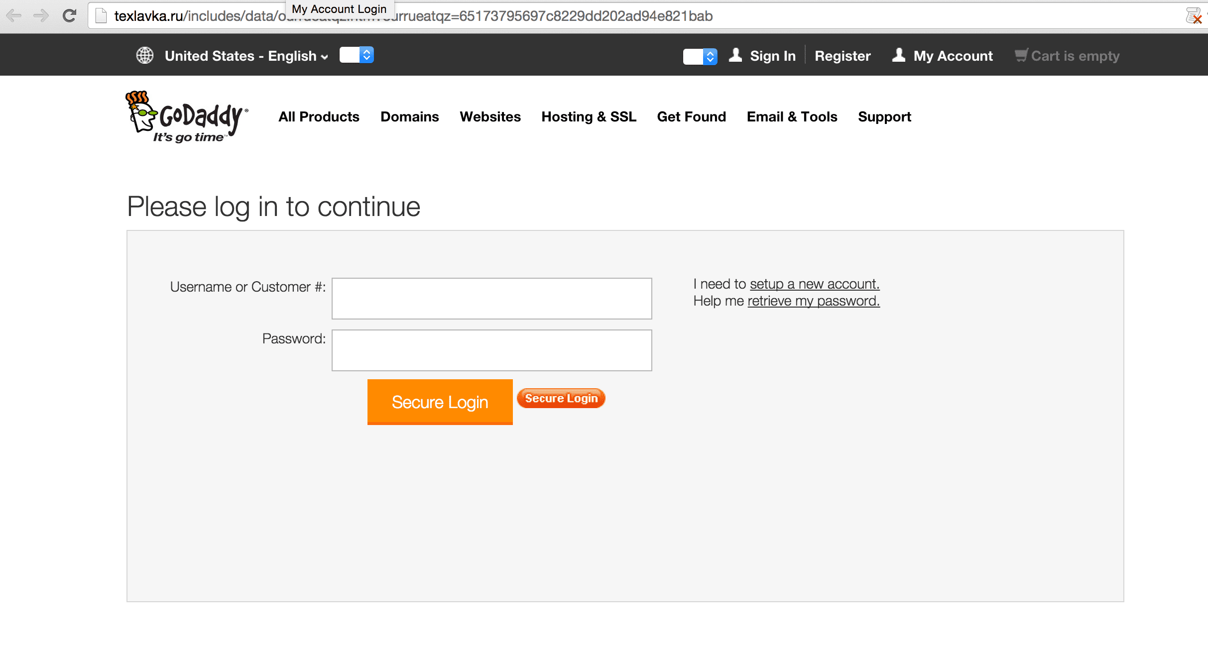 godaddy-phishing-page