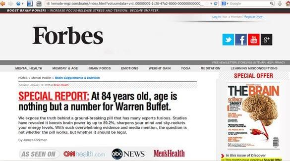 Fake Forbes on lemode-mgz .com