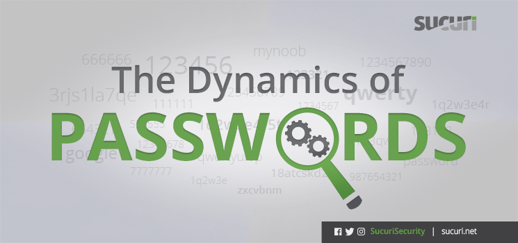 The Dynamics of Passwords