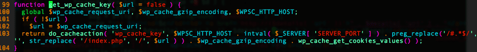 WP Super Cache Key Index