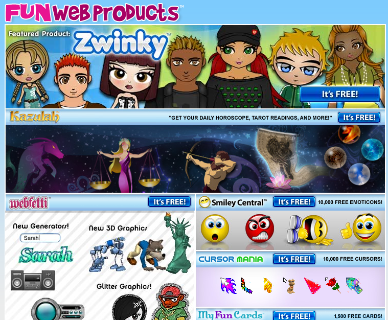 FunWebProducts Website