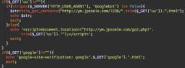 Doorway script with Google verification file