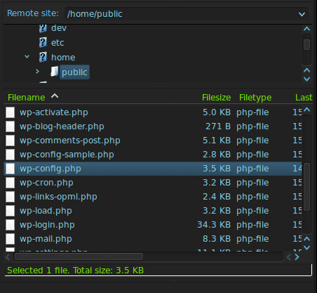 Your wpconfig.php stores database credentials.