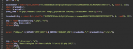 PHP code redirects to malicious Microsoft Word document