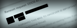 DDoS BitCoin Ransom