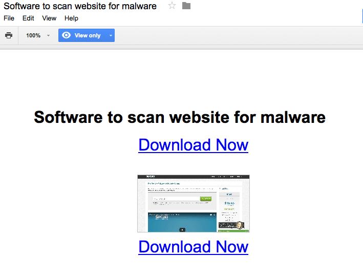 Google Doc Malicioso