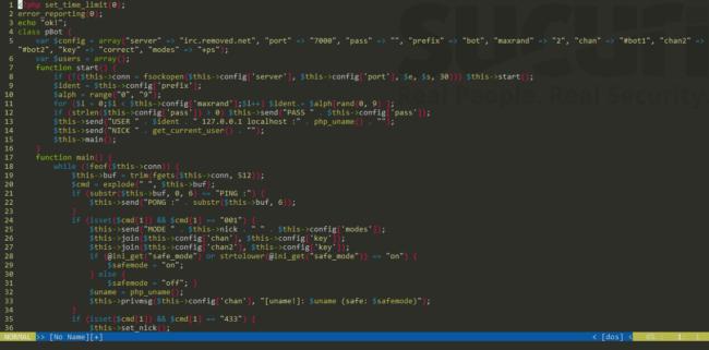 IRC bot en PHP