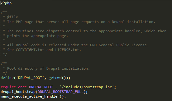 Drupal's index.php file