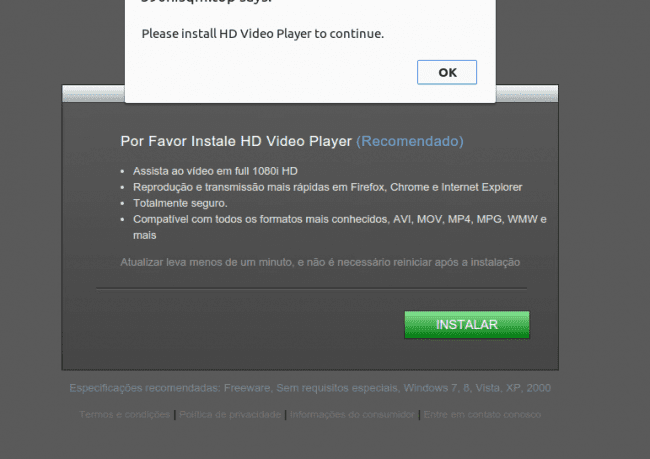 Fake HD Video Player