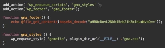 Suspicious gma_footer code