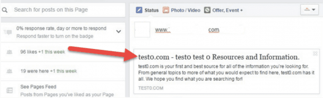test0 .com redirect when sharing an infecting site on Facebook