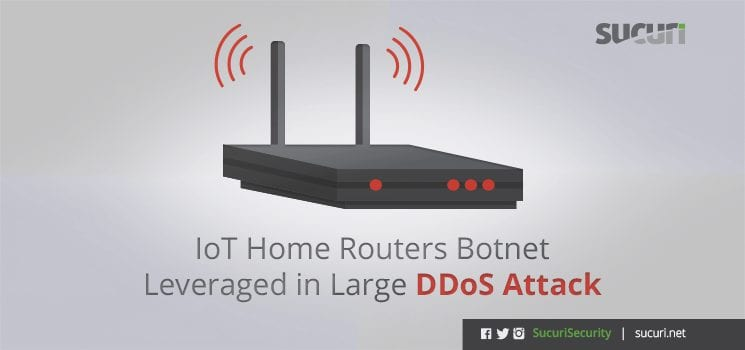 IoT home router ddos attack